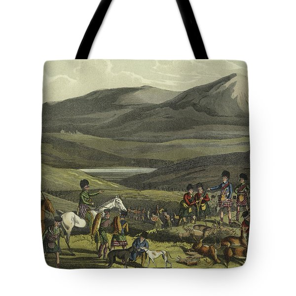 Sporting Meeting In The Highlands Tote Bag