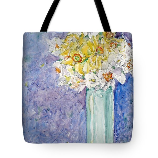 Spring Blossoms Tote Bag by Jan Bennicoff