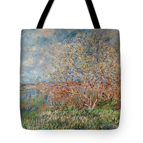 Spring Tote Bag by Claude Monet