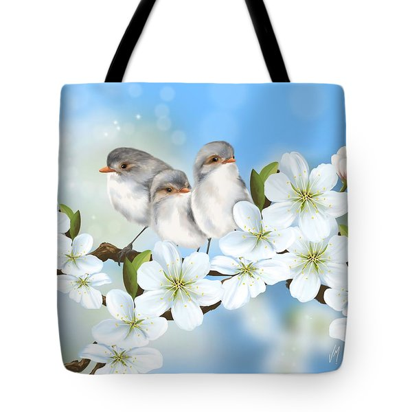 Tote Bag featuring the painting Spring Fever by Veronica Minozzi