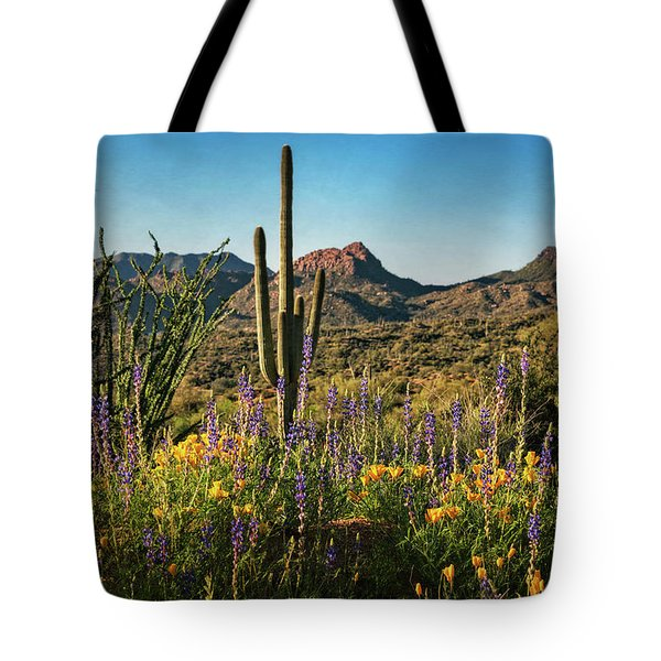 Tote Bag featuring the photograph Spring In The Sonoran  by Saija Lehtonen