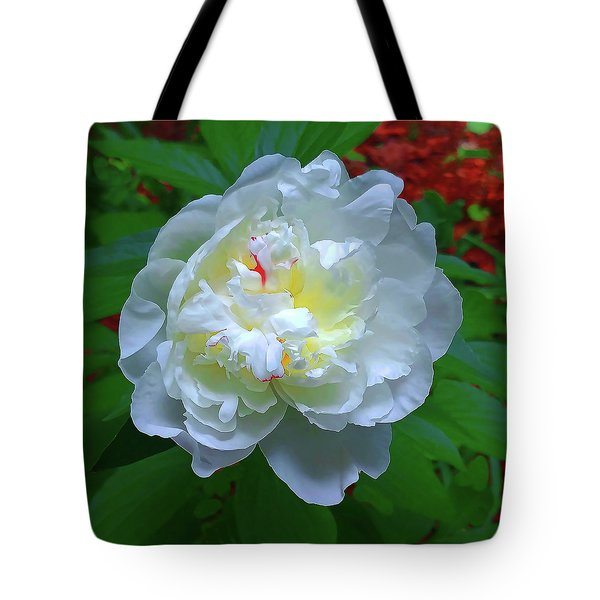 Tote Bag featuring the photograph Spring Peony by Roger Bester