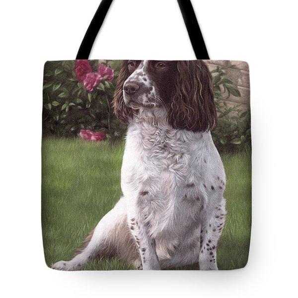 Springer Spaniel Painting Tote Bag