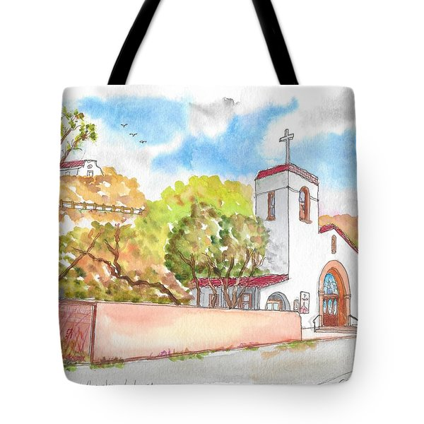 St. Catherine Of Alexandria Catholic Church, Avalon, Santa Catalina Island, Ca Tote Bag
