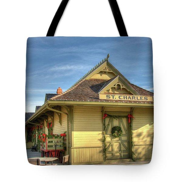 St. Charles Depot Tote Bag by Steve Stuller