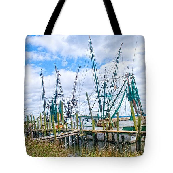 St. Helena Shrimp Boats  Tote Bag