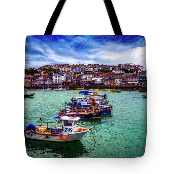 St Ives Harbor Tote Bag