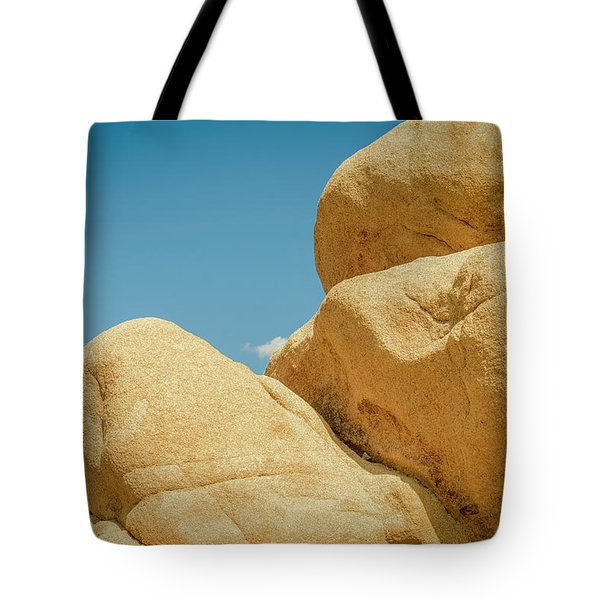 Stacked Boulders Joshua Tree Tote Bag by Amyn Nasser