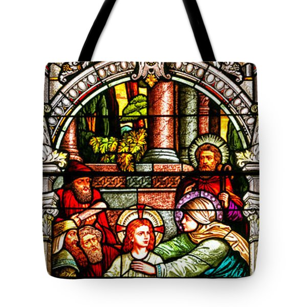Tote Bag featuring the photograph Stained Glass Scene 3 Crop by Adam Jewell