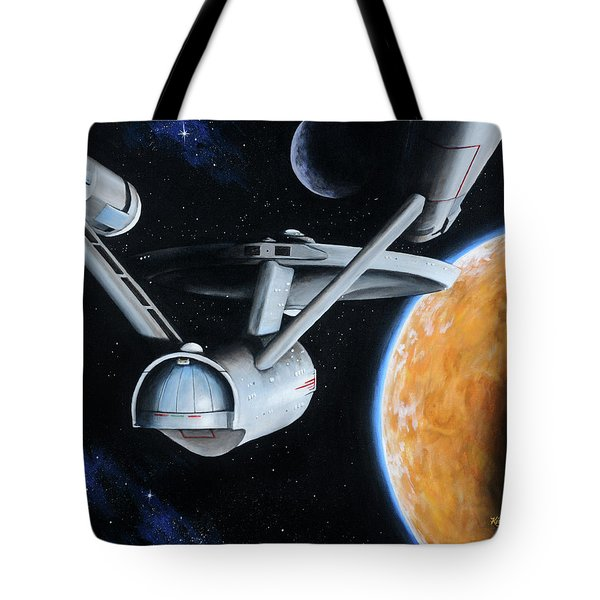 Tote Bag featuring the painting Standard Orbit by Kim Lockman