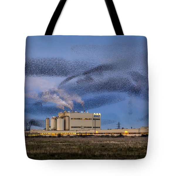 Starling Mumuration Tote Bag by Ian Hufton