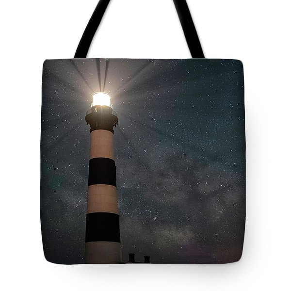 Stars Over Bodie Lighthouse Tote Bag