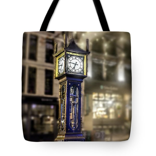 Tote Bag featuring the photograph Steam Clock by Jim  Hatch