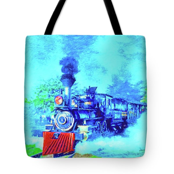 Edison Locomotive Tote Bag by Dennis Cox
