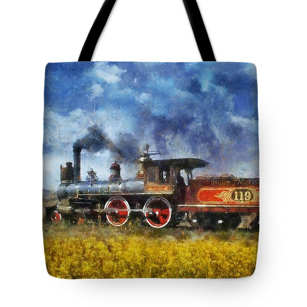 Tote Bag featuring the photograph Steam Locomotive by Ian Mitchell