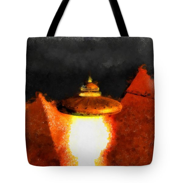 Steampunk Ufo Tote Bag