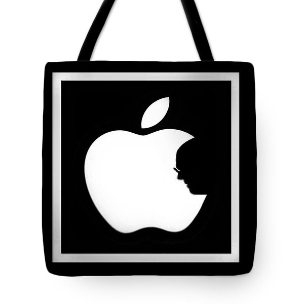 Steve Jobs Apple Tote Bag