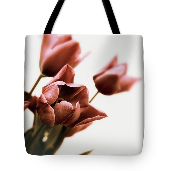 Tote Bag featuring the photograph Still Life Tulips by Jessica Jenney