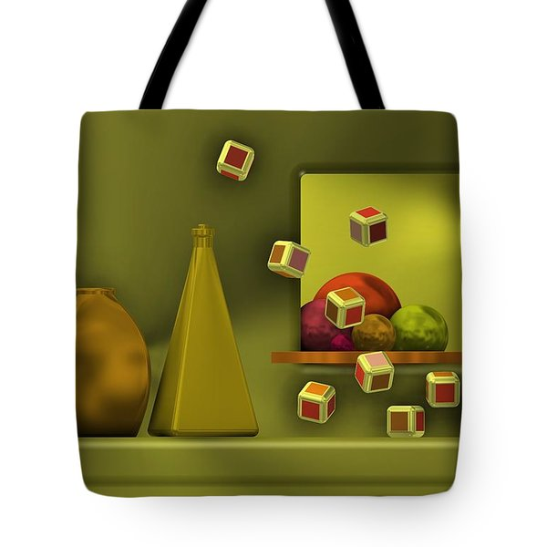 Still Life With Cubes Tote Bag