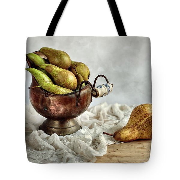 Still-life With Pears Tote Bag by Nailia Schwarz