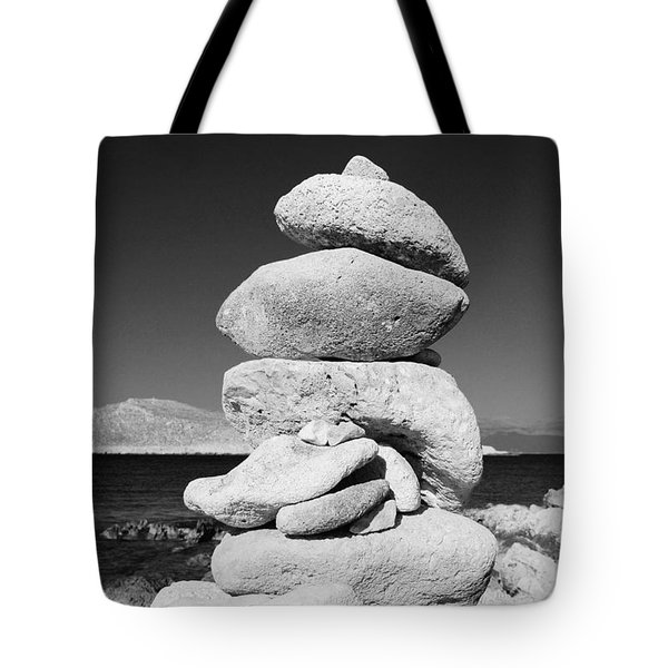Stone Tower On Halki Island Tote Bag