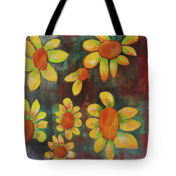 Stoned Flowers Tote Bag