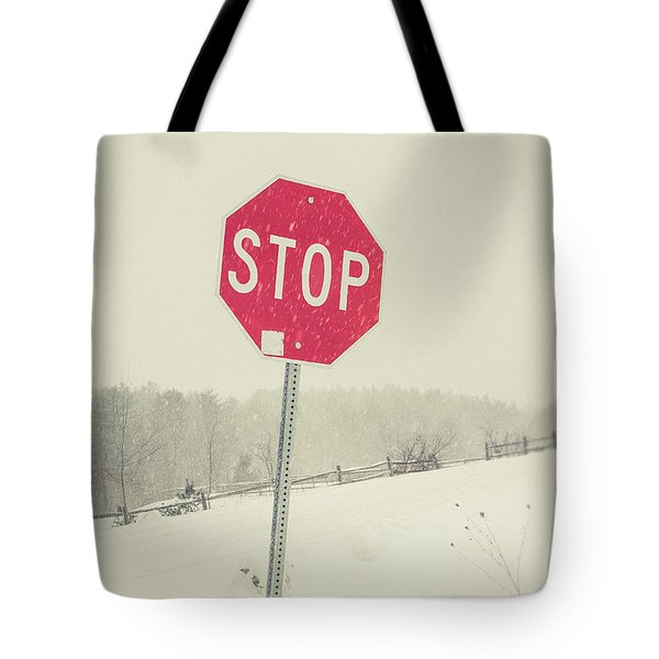 Tote Bag featuring the photograph Stop by Edward Fielding