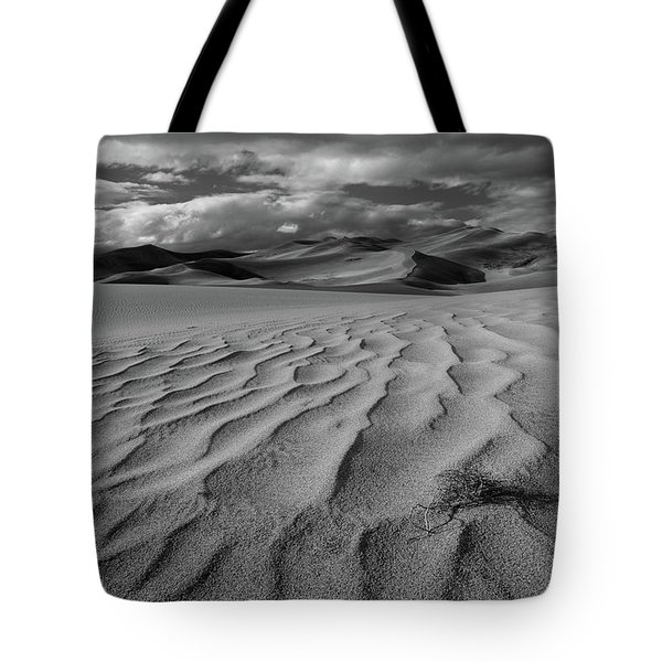 Storm Over Sand Dunes Tote Bag
