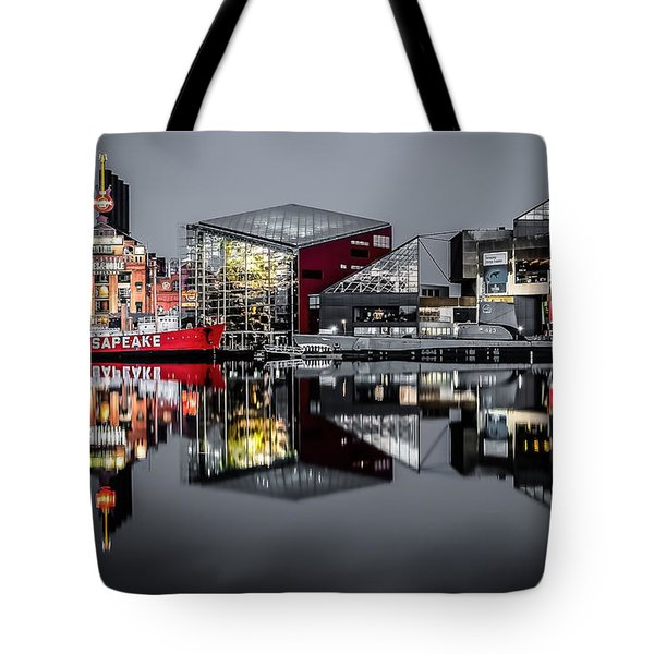 Stormy Night In Baltimore Tote Bag