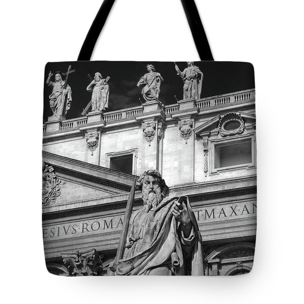 St.peter Statue At The Vatican Tote Bag