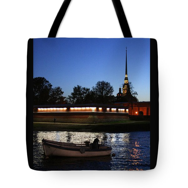 St.petersburg At Night Tote Bag