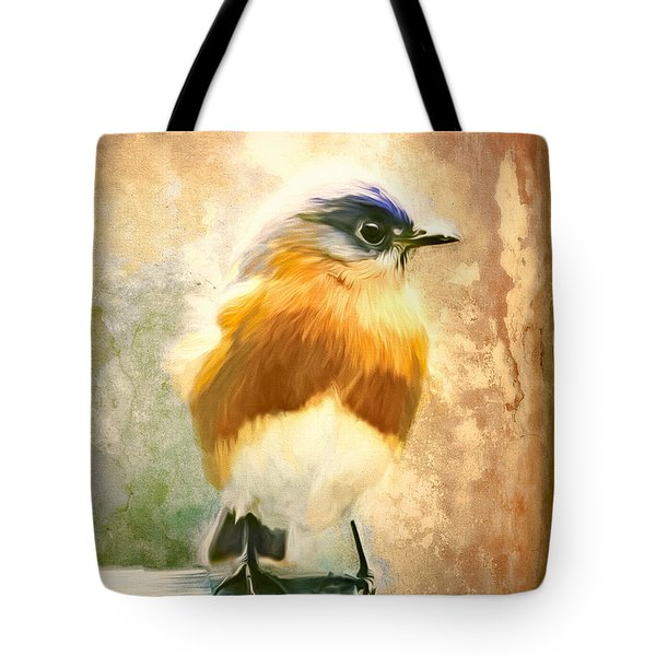 Strapping Bluebird Tote Bag by Tina LeCour