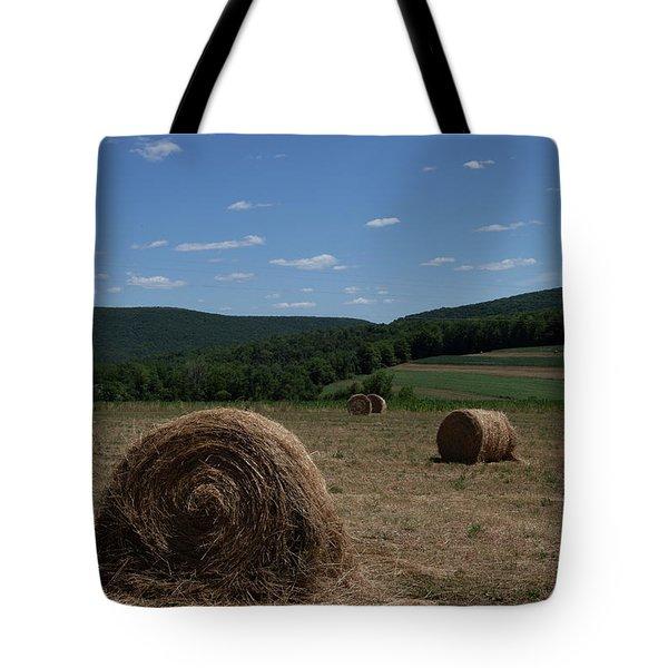 Straw Bales Tote Bag