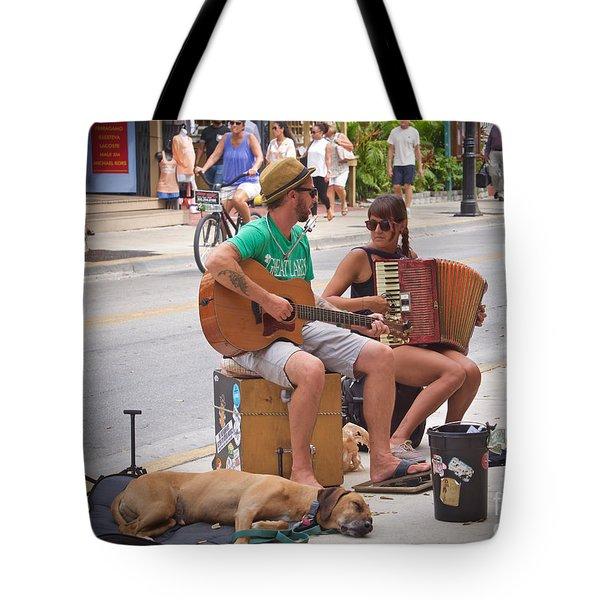 Street Melody Tote Bag