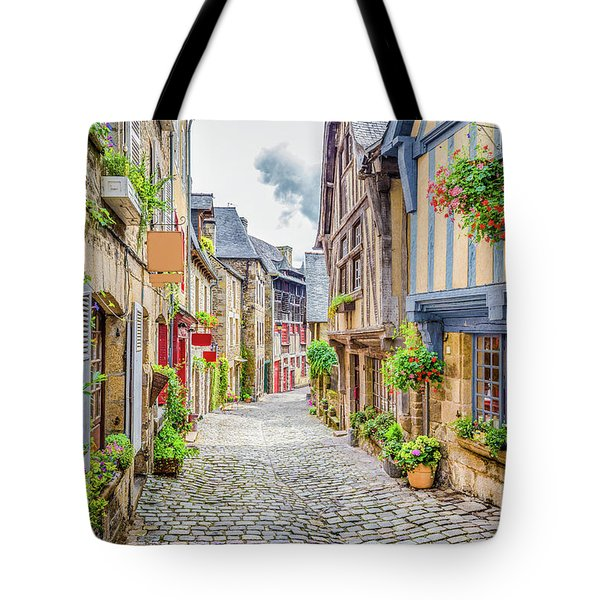 Streets Of Dinan Tote Bag by JR Photography