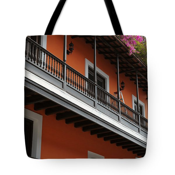 Streets Of Old San Juan Tote Bag by Stephen Anderson