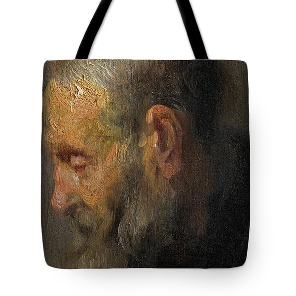 Study Of An Old Man In Profile Tote Bag