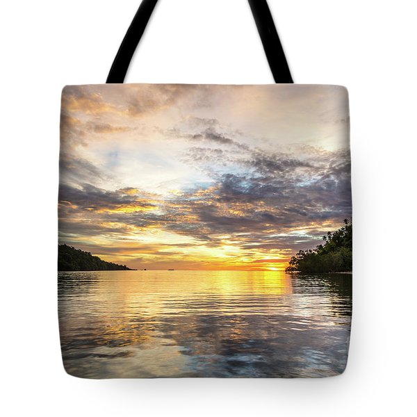 Stunning Sunset In The Togian Islands In Sulawesi Tote Bag