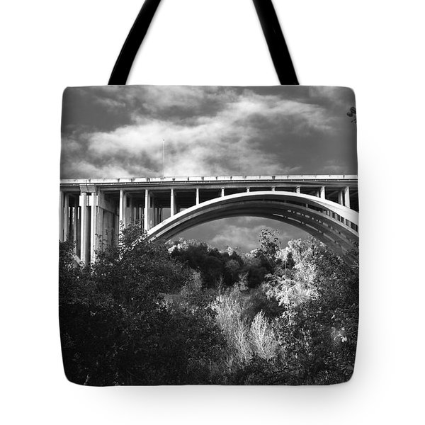 Suicide Bridge Bw Tote Bag
