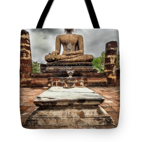 Tote Bag featuring the photograph Sukhothai Historical Park by Adrian Evans