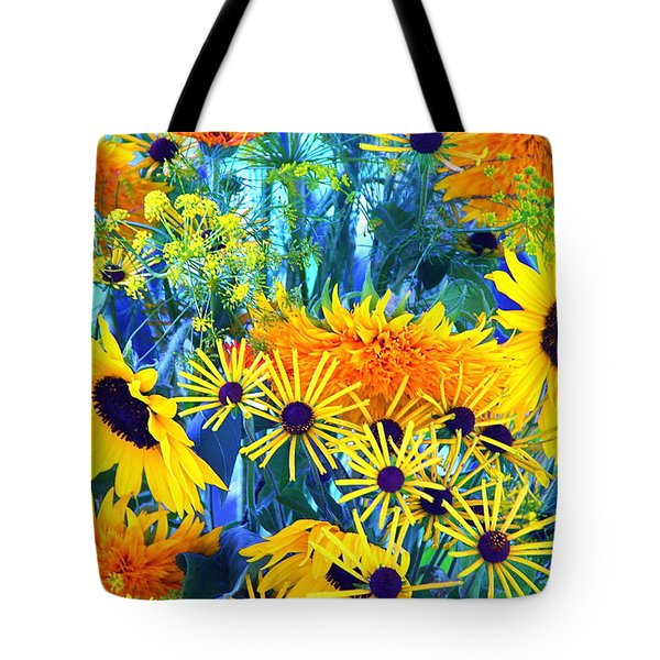 Tote Bag featuring the photograph Summer Bouquet by Byron Varvarigos