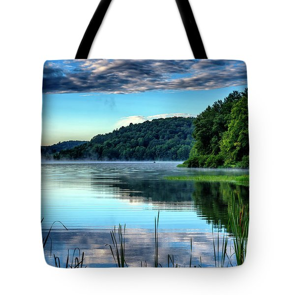 Summer Morning On The Lake Tote Bag