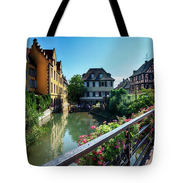 Tote Bag featuring the photograph summer panorama in Colmar, named  by Ariadna De Raadt