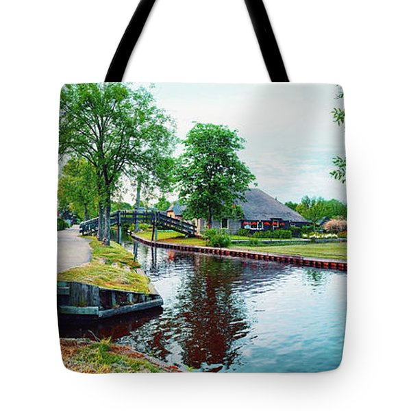 Tote Bag featuring the photograph Summer Panorama Of  Dutch Village by Ariadna De Raadt