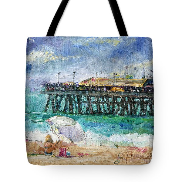 Tote Bag featuring the painting Summer Sun by Jennifer Beaudet