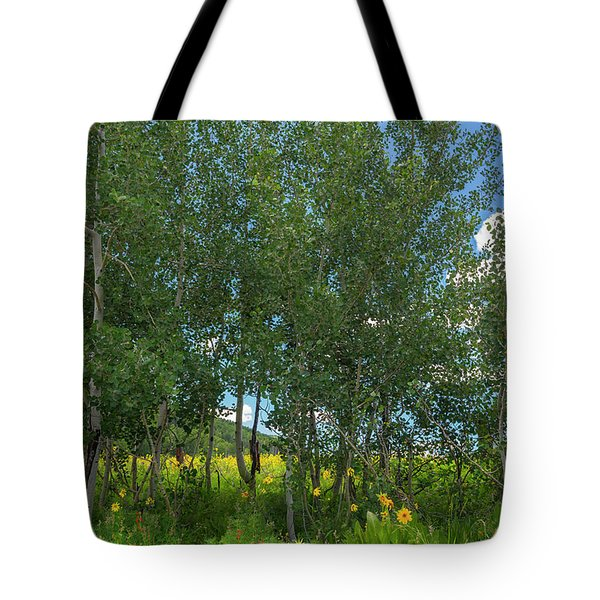 Tote Bag featuring the photograph Summer Wildflowers by Tim Reaves