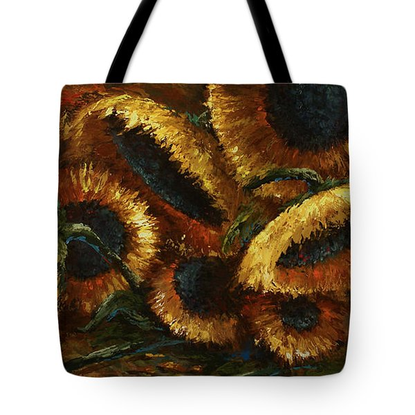Sunflowers Tote Bag by Michael Lang