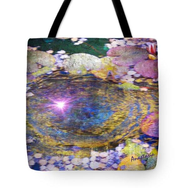 Sunglint On Autumn Lily Pond II Tote Bag