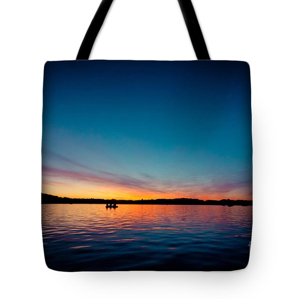 Sunrise Above Lake Water Summer Time Latvia Ezera Skanas Tote Bag