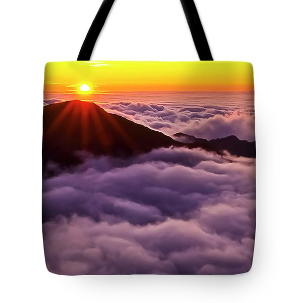 Sunrise Above The Clouds Maui, Hawaii Tote Bag